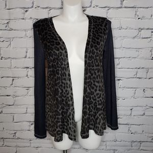 Mystree Animal Print Cardigan